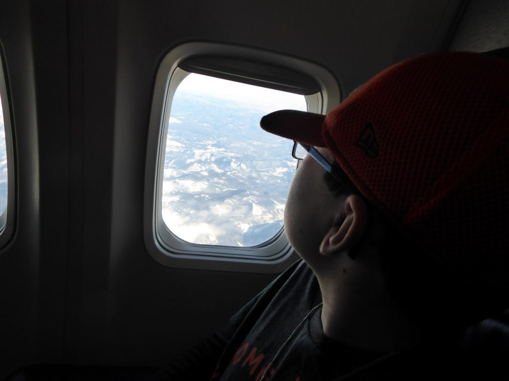 Kid with a window seat