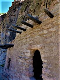 Volcanic cliff dwellings