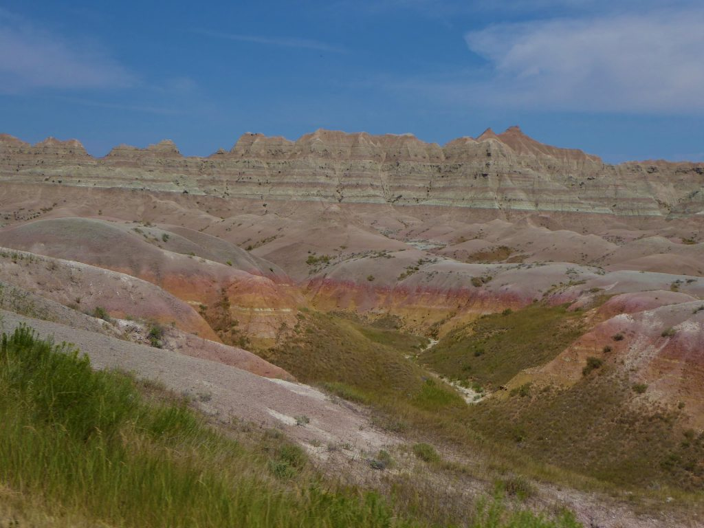 colorful formations at Badlands National Park
