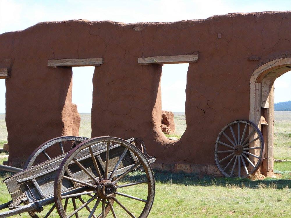 adobe walls weathering time at Fort Union