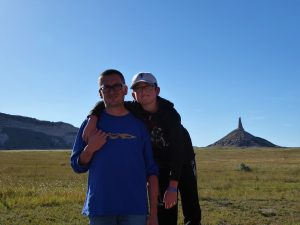 Family Well Traveled visits Chimney Rock