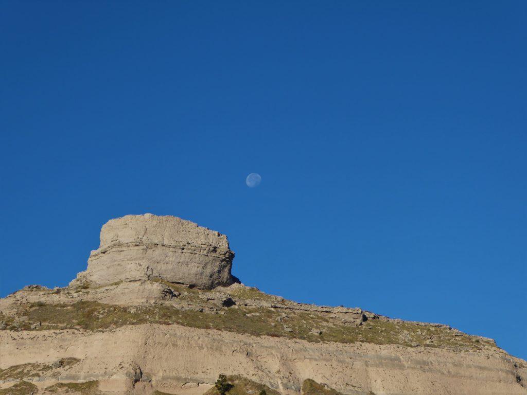 Vacation in Nebraska Moon at Mitchell Pass