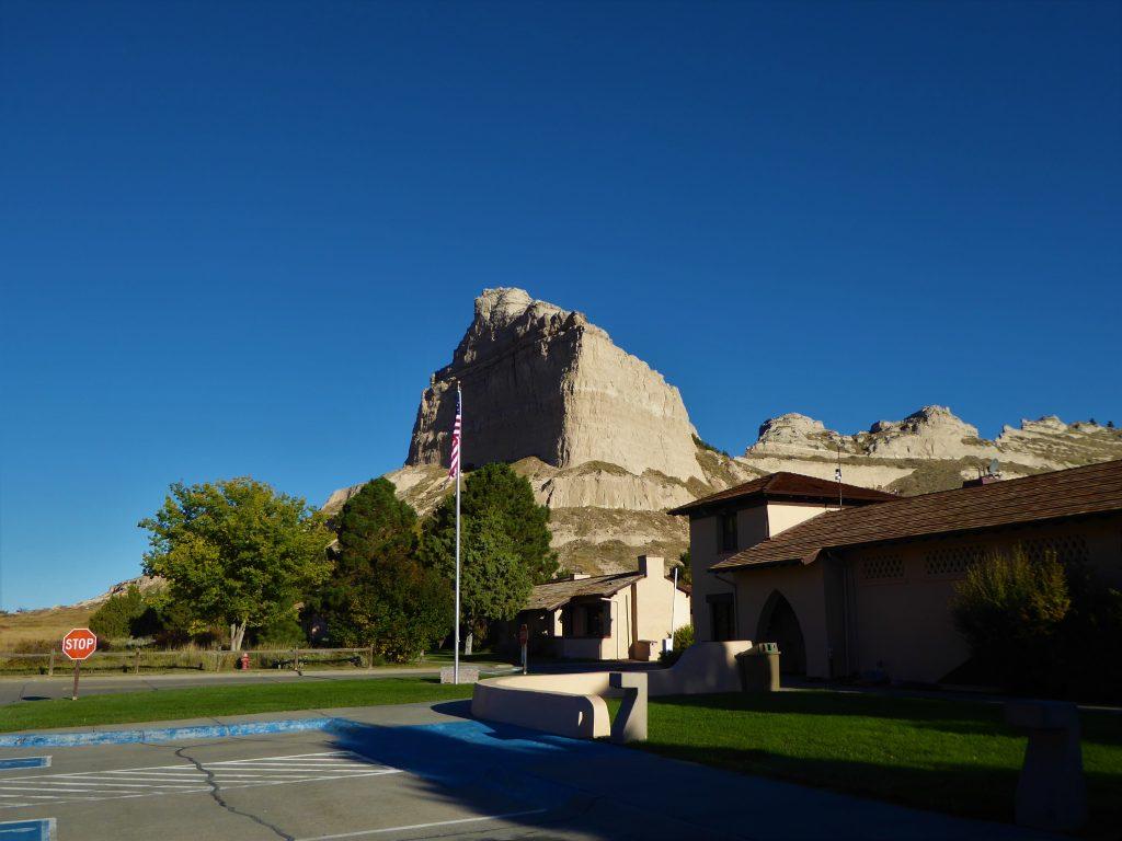 Vacation in Nebraska visitors's center at Scotts Bluff NM