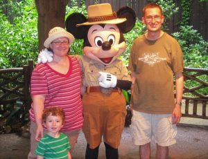 Family with Mickey Mouse
