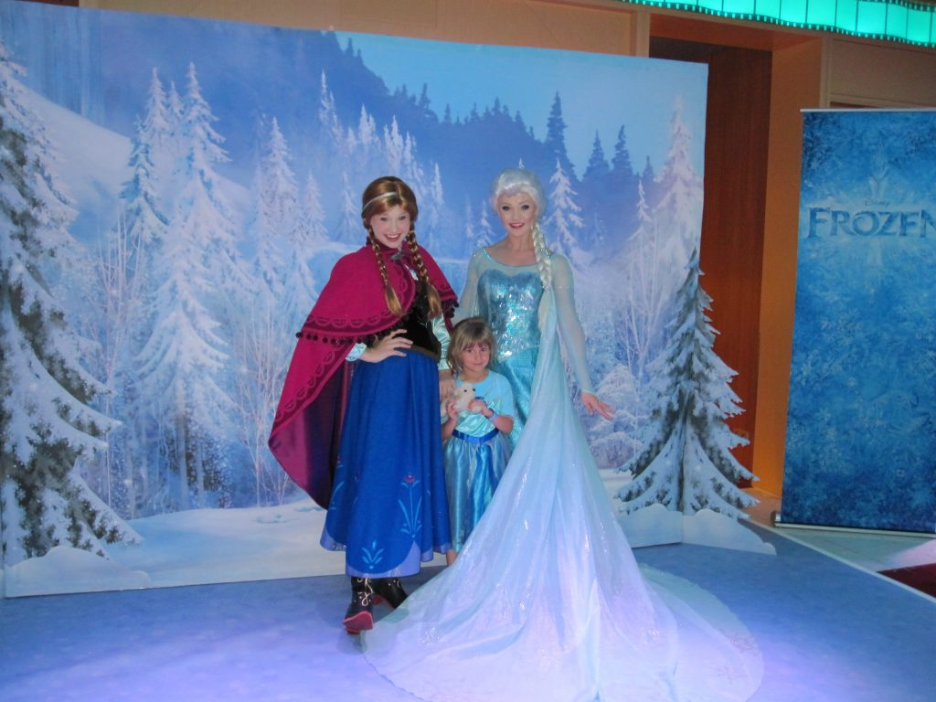 What to do on a Disney Cruise Frozen Characters
