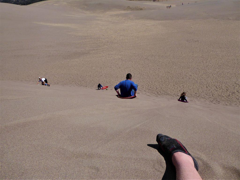 Great Sand Dunes sledding