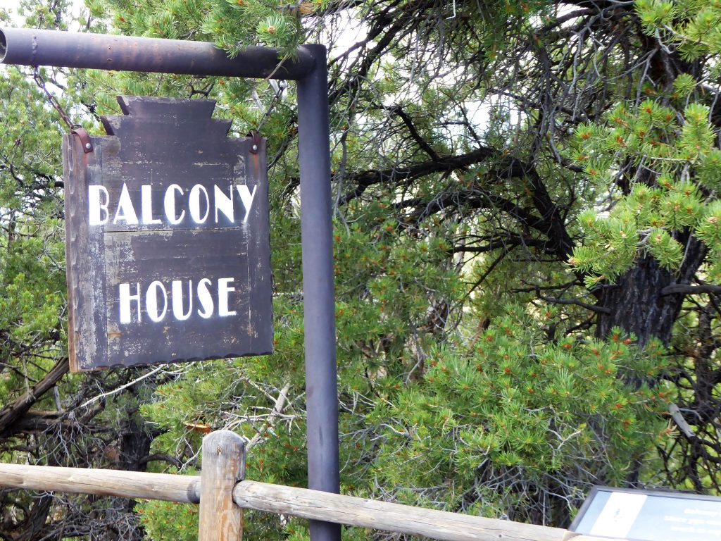 Balcony House Tour Sign