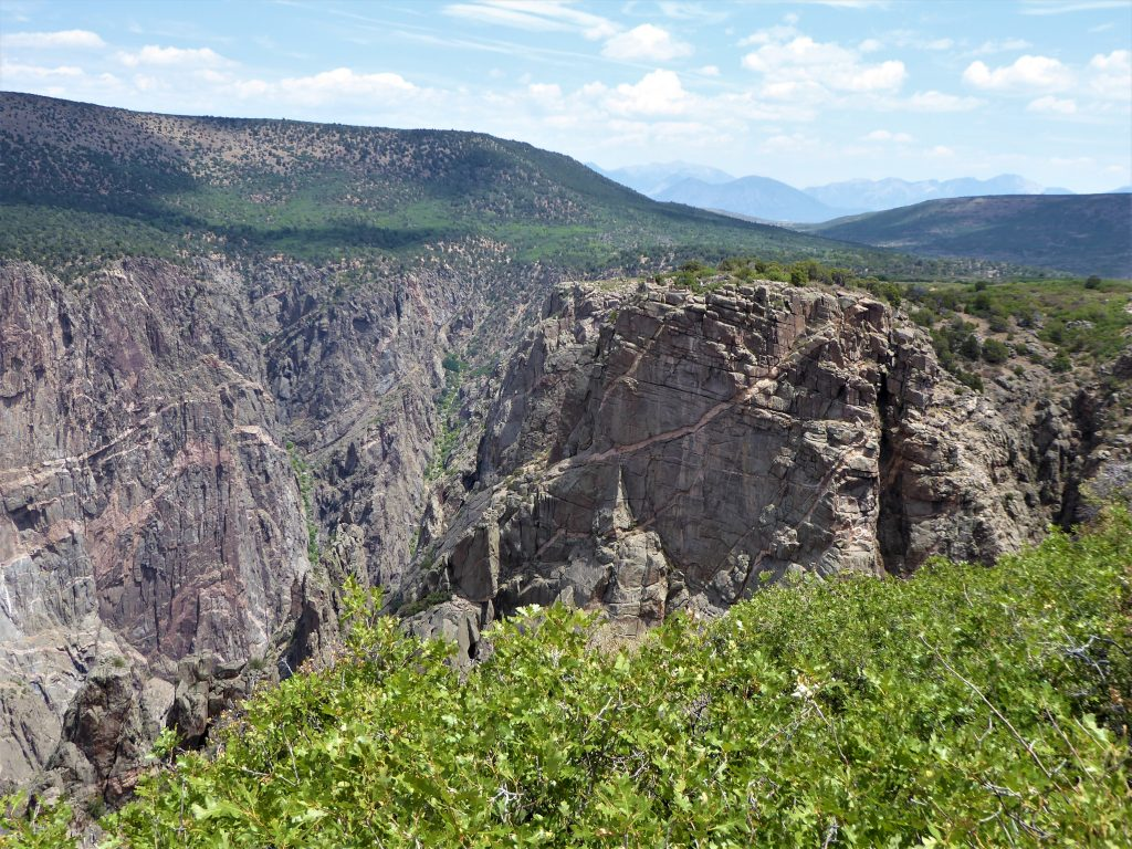 Black Canyon of the Gunnison National Park Painted Wall View