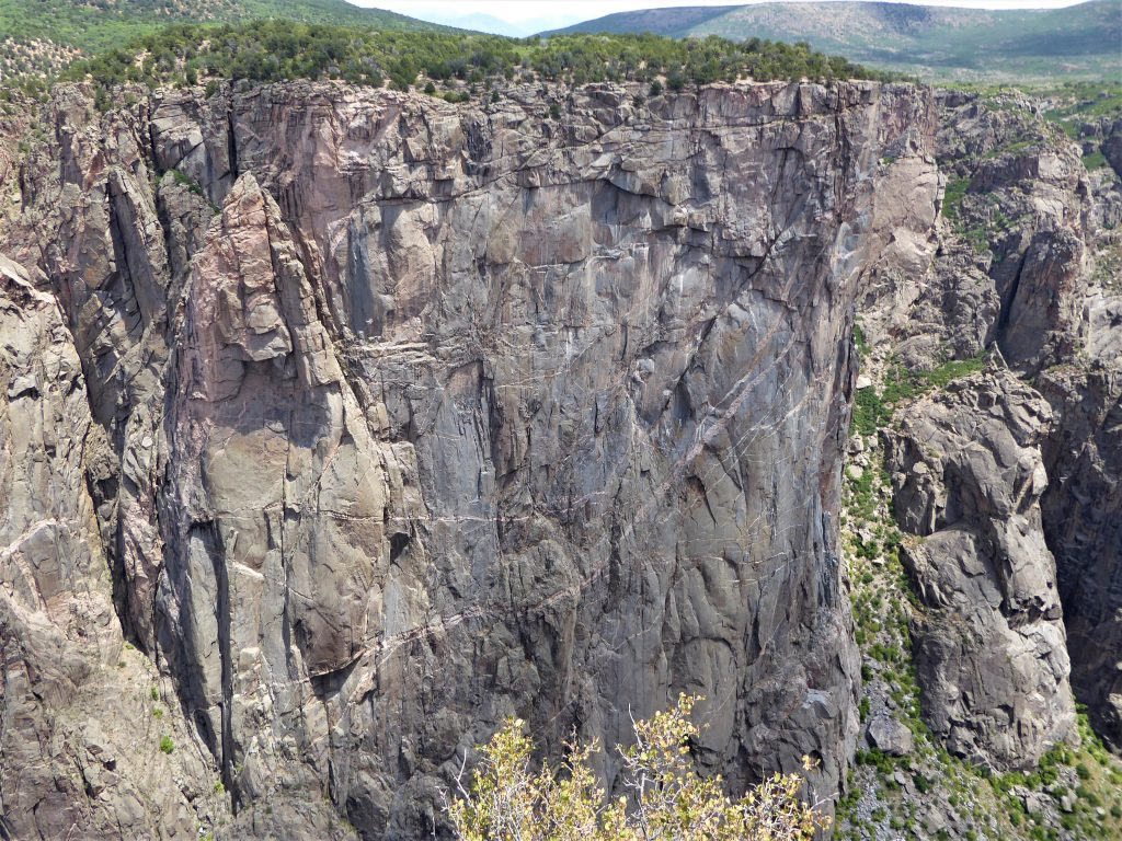 Black Canyon of the Gunnison National Park Rock Cliff