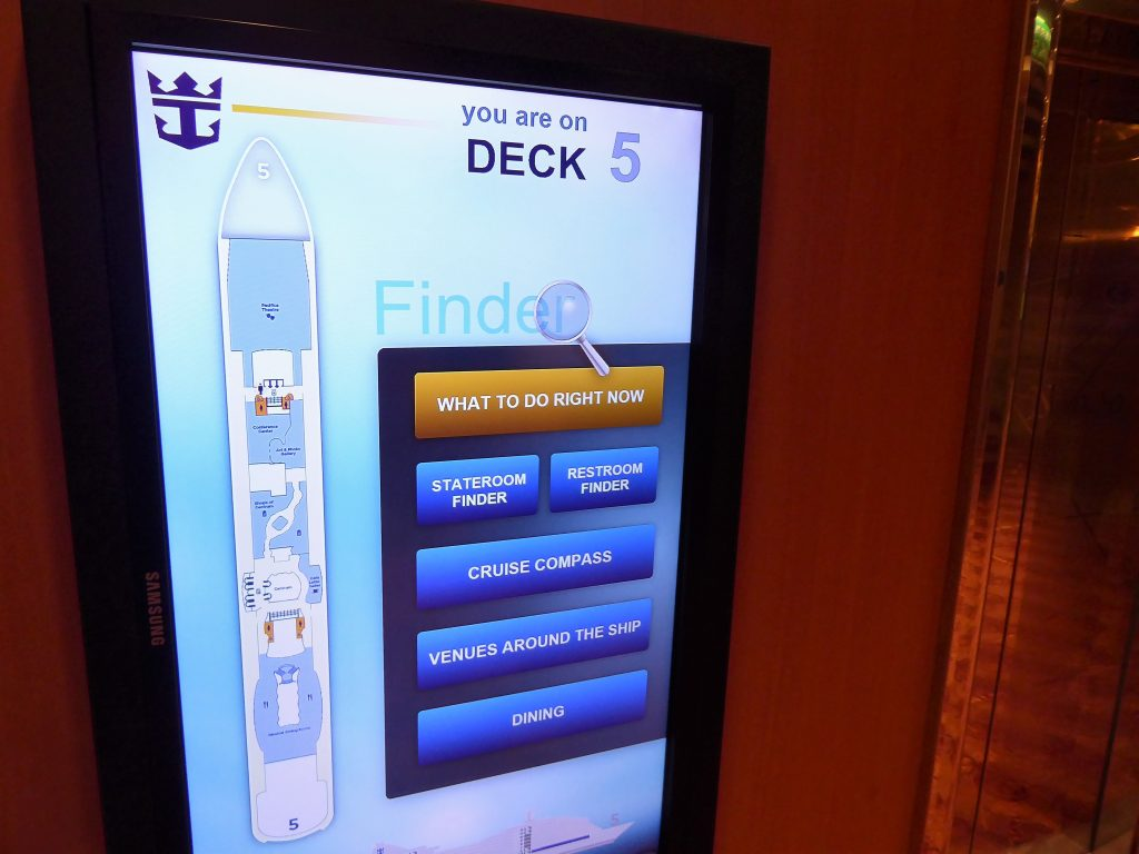 Brilliance of the Seas Deck Plan Screens
