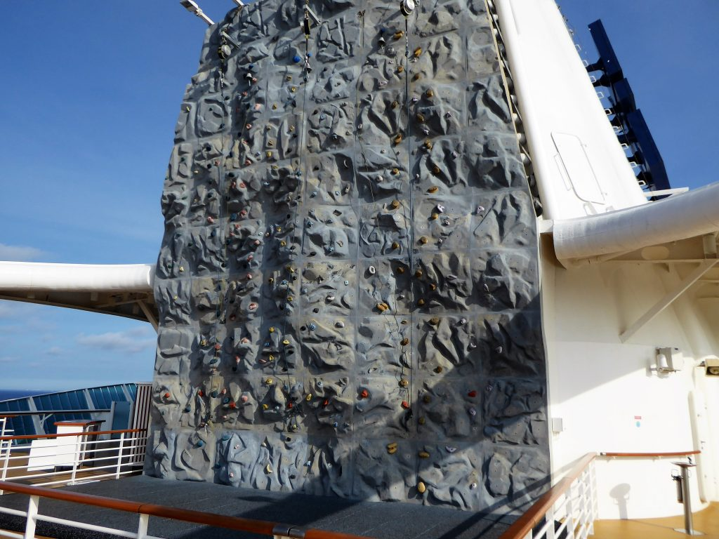 Brilliance of the Seas Rock Climbing Wall