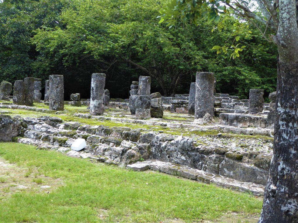 Mayan Ruins of San Gervasio Columns