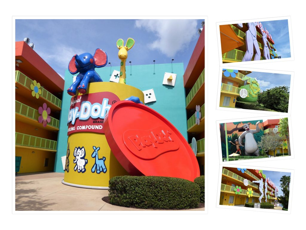 Disney's Pop Century Resort 60s Collage