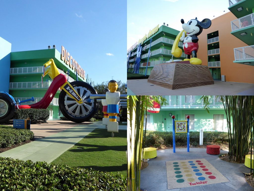 Disney's Pop Century Resort 70s scenes