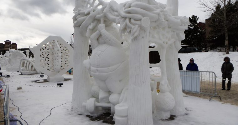 The International Snow Sculpture Championship in Breckenridge, CO