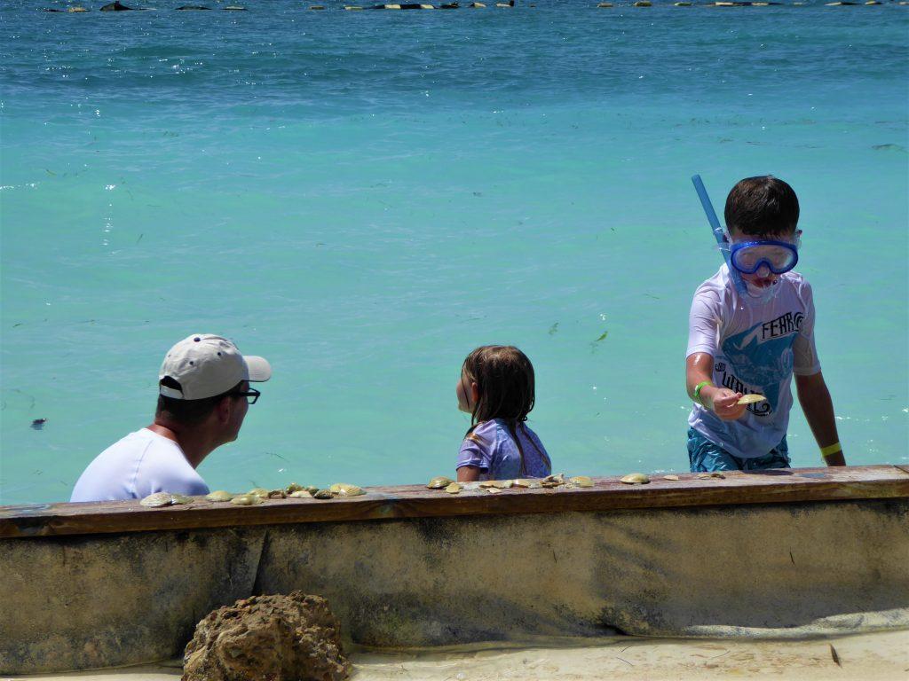 Starfish Island Belize Collecting Shells
