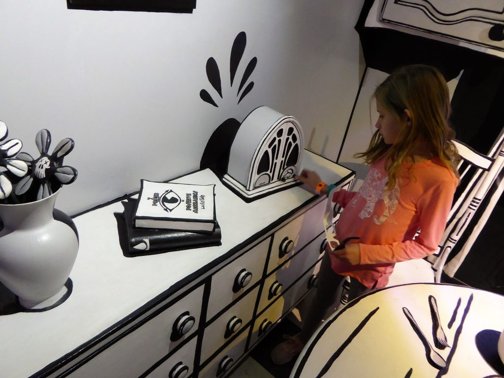 Meow Wolf Santa Fe Black and White Room