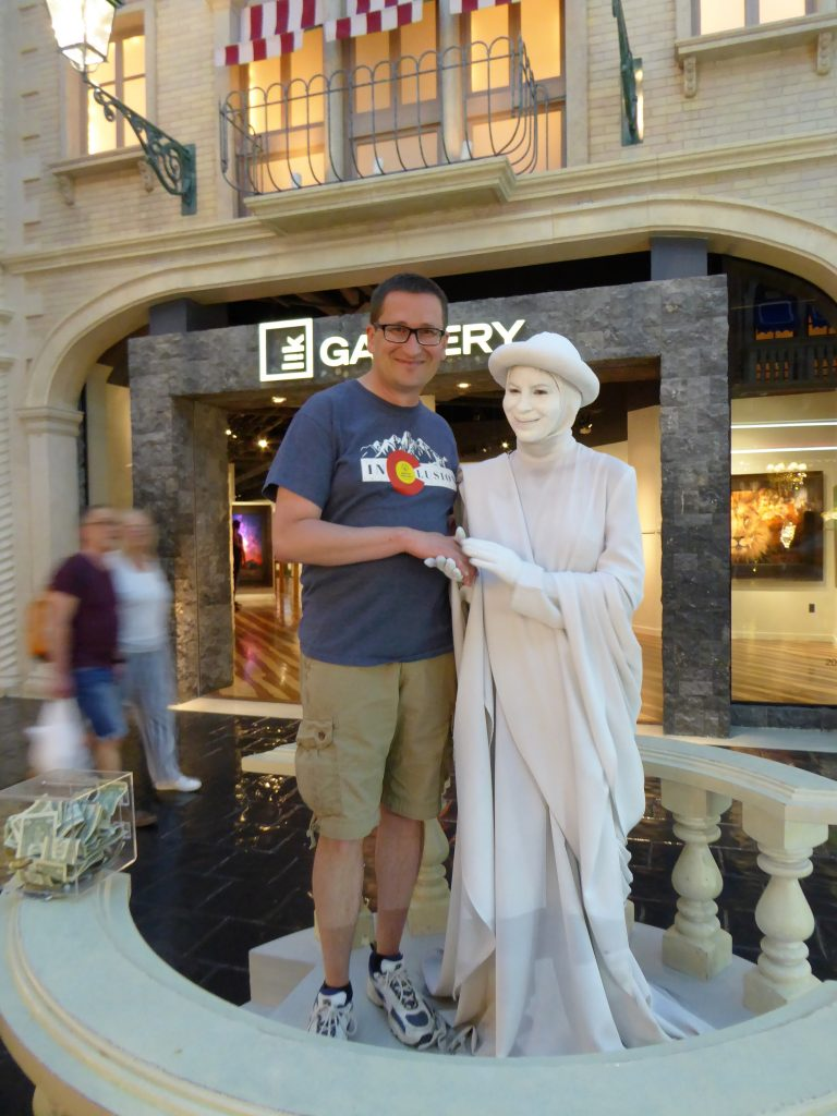 Living Statue at the Venetian in Las Vegas