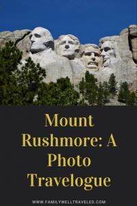 Mount Rushmore Photo Travelogue
