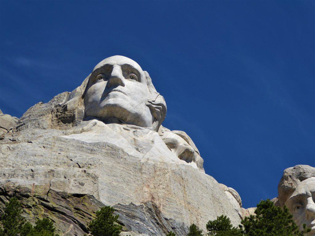 Looking up at Washington