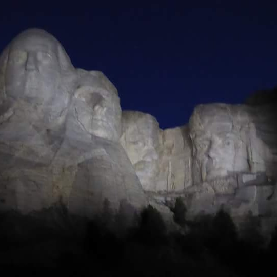 National Parks of South Dakota Mount Rushmore at Night