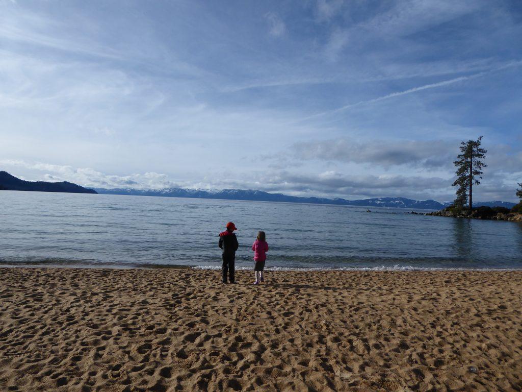 Kids admire Tahoe