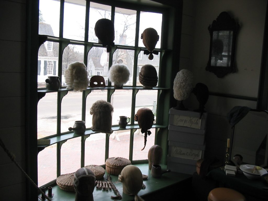 Vacations in the Cold Wig Shop in Colonial Williamsburg