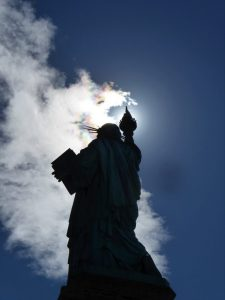 The Statue of Liberty with Clouds