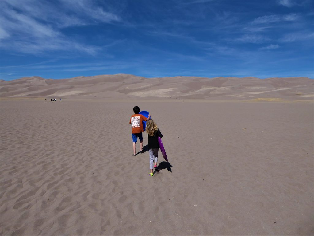 Great Sand Dunes sledding
