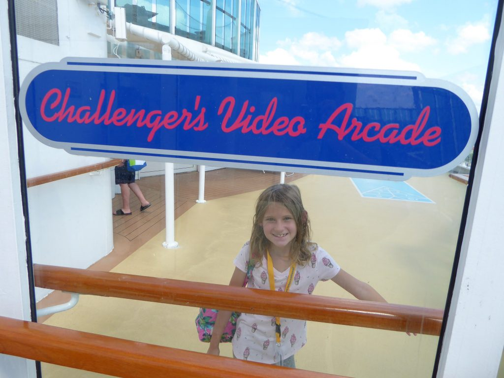 Brilliance of the Seas Challenger's Video Arcade