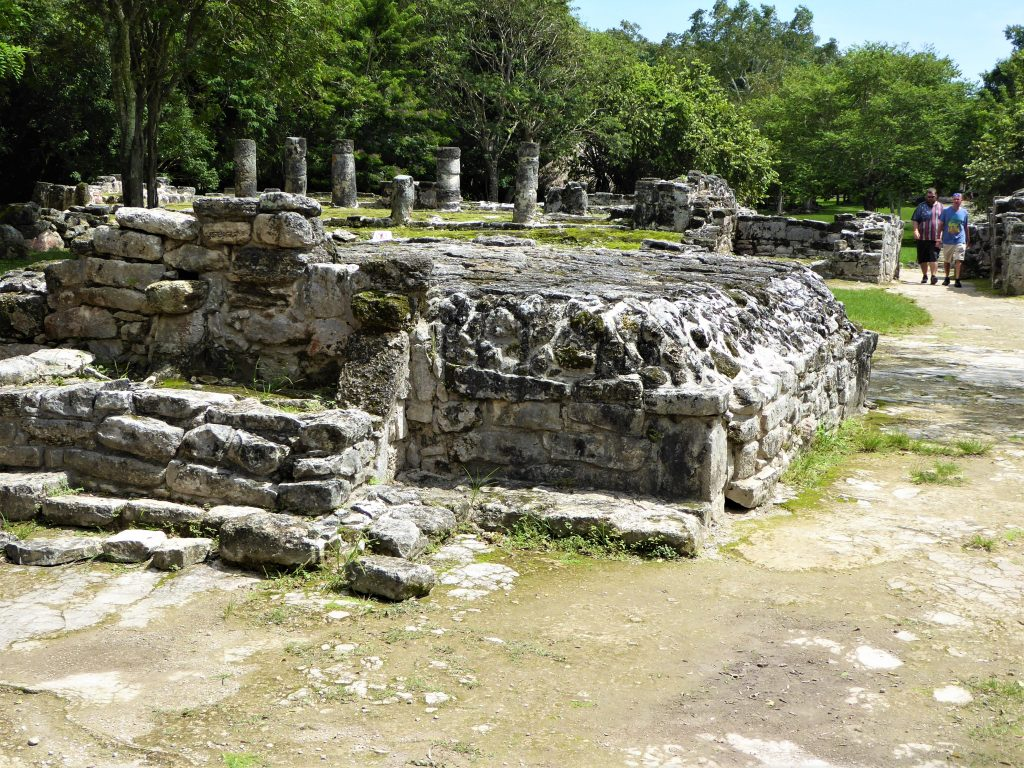 Mayan Ruins of San Gervasio Central Plaza Altar