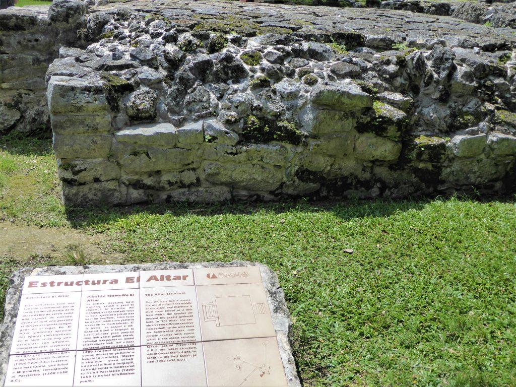 Mayan Ruins of San Gervasio Altar