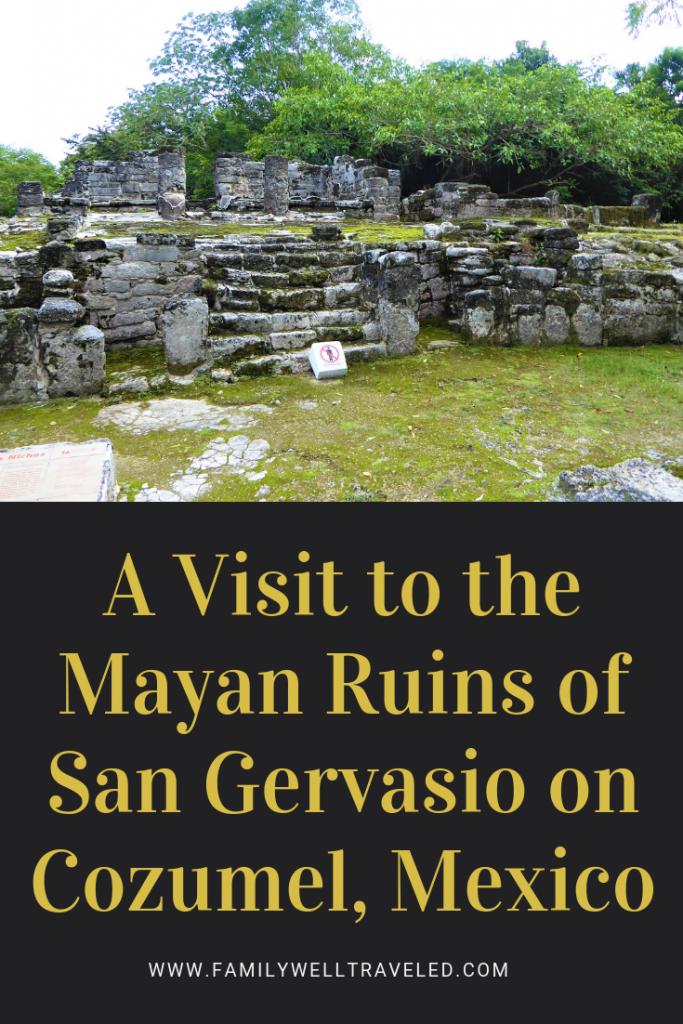 Mayan Ruins of San Gervasio, Cozumel, Mexico