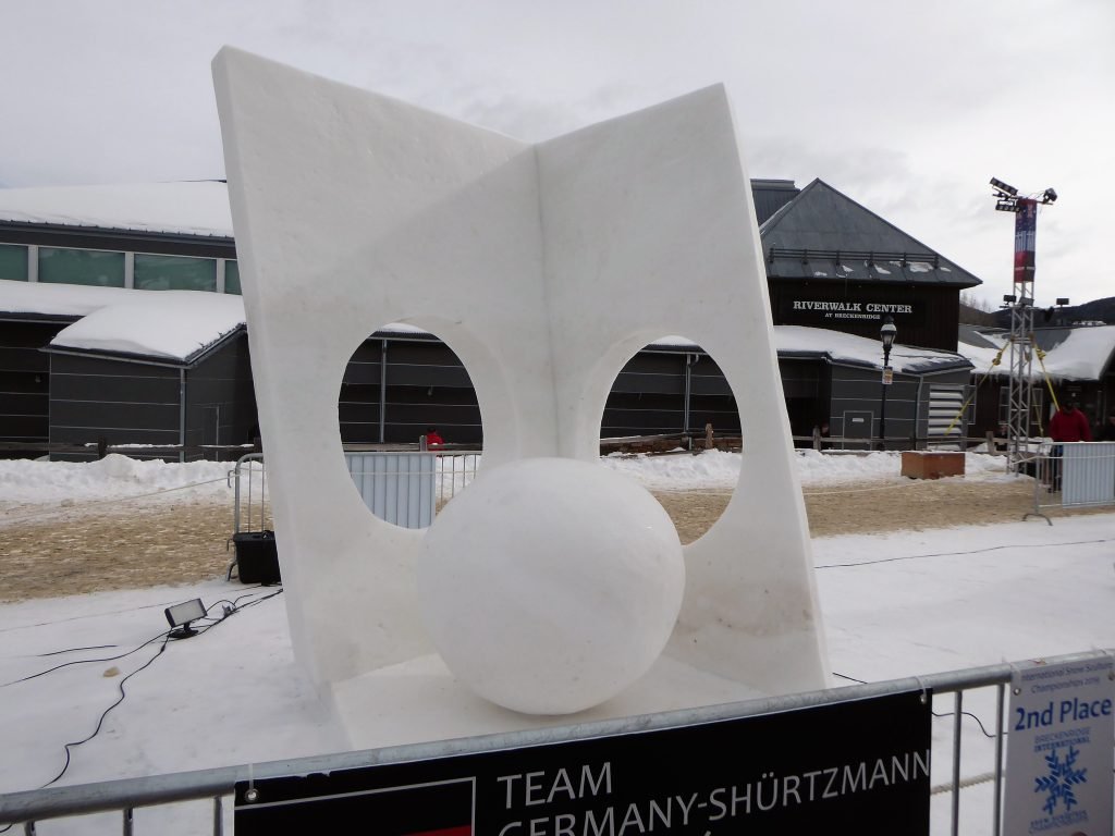 International Snow Sculpture Championship Walls with Holes