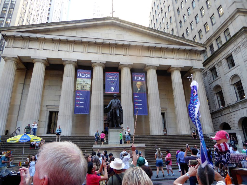 two day Manhattan Itinerary for Families Federal Hall