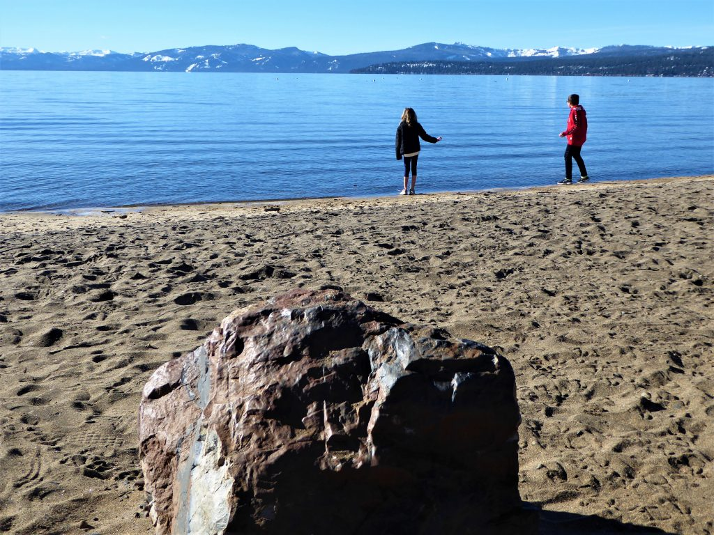 Kings Beach Lake Tahoe Kids Playing