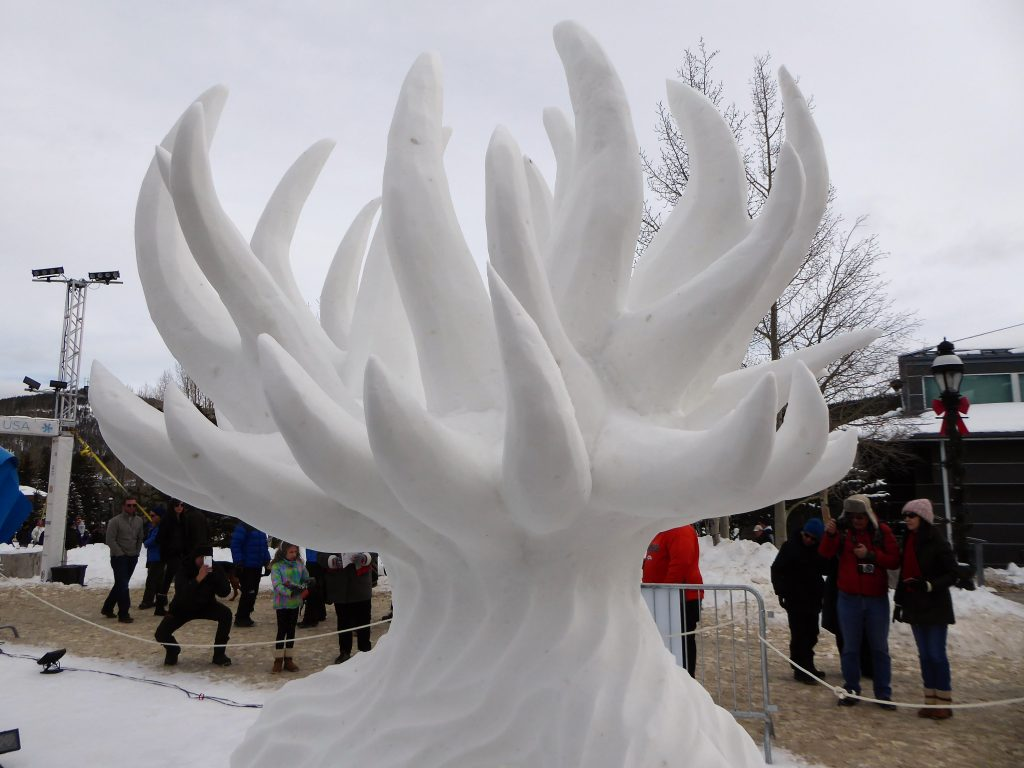 International Snow Sculpture Championship Earth Tree