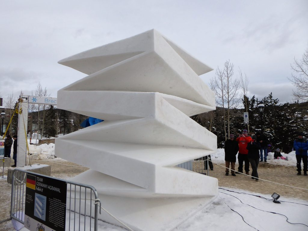 International Snow Sculpture Championship Folded II