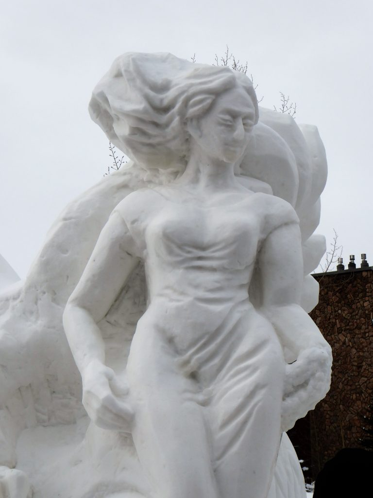 International Snow Sculpture Championship Eagle Woman