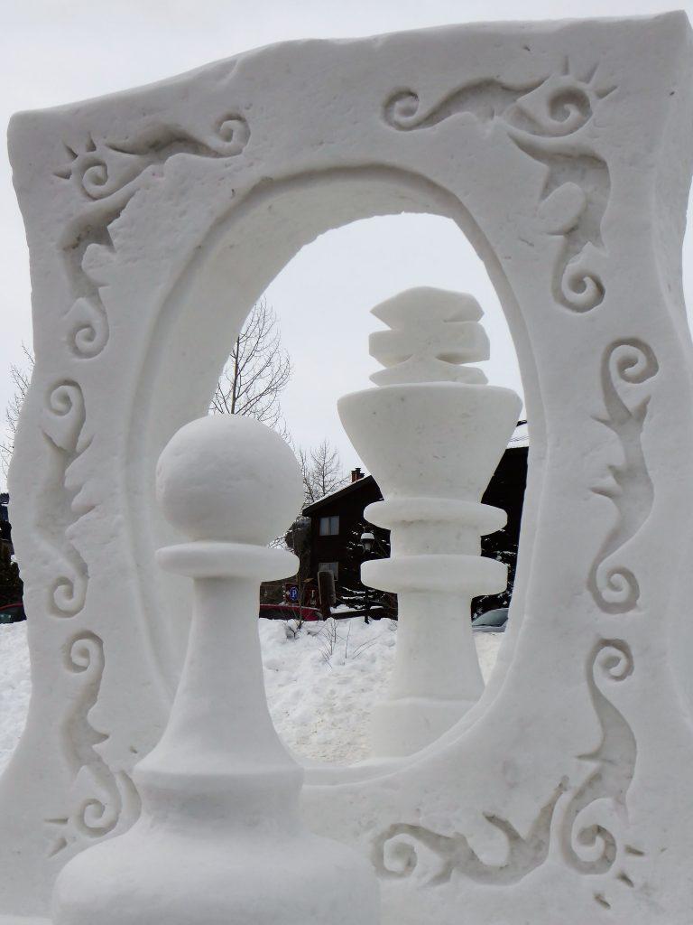 International Snow Sculpture Championship Pawn's Dream