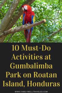 Gumbalimba Park, Roatan Island, Honduras
