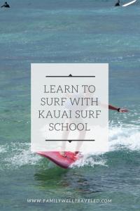 Kauai Surf School, Kiahuna Beach, Poipu, Hawaii